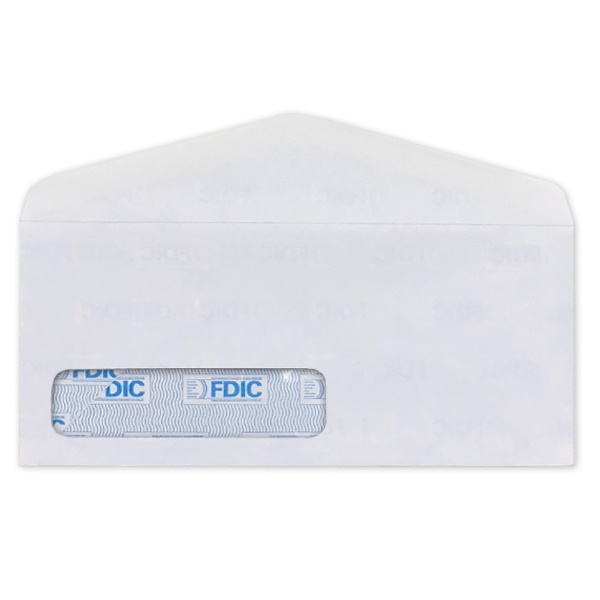 FDIC Security Tint with Digi-Clear Window Envelope (No 10) 2616