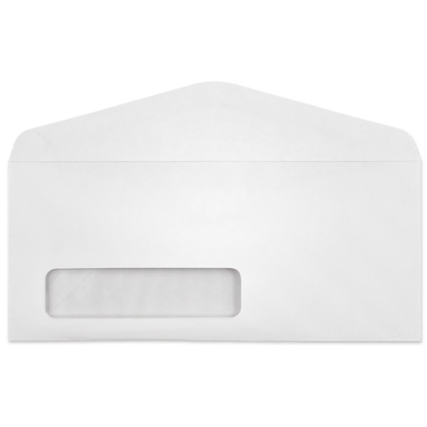#10 Window Envelopes (4-1/8 x 9-1/2) Machine Insertable 24lb White 500/BX