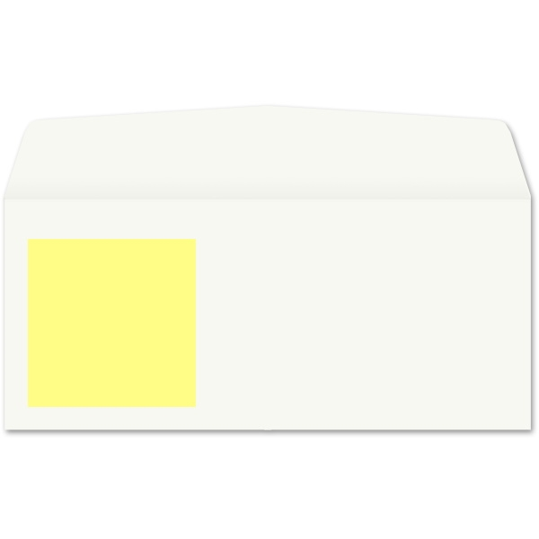 Peel 'n View Envelope Yellow Note (No. 10) 3228
