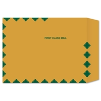 #W5102 Catalog Brown Kraft Envelope with First Class Border