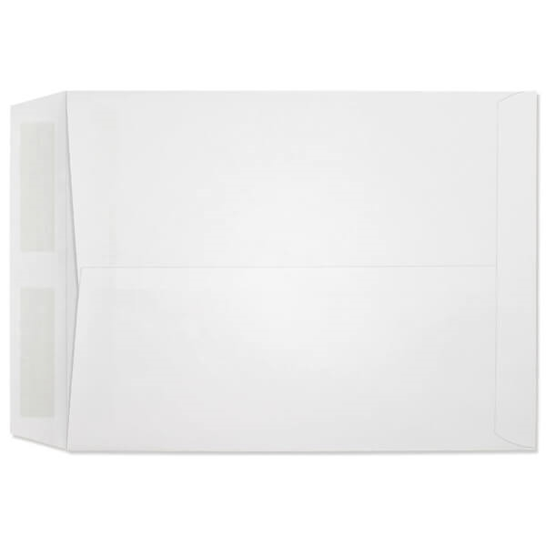 SFI Certified 92/% Brightness No Window Vellum Finish Center Seam 28 lb White Sulphite - Box of 500 Envelopes Western Sulphite White Catalog Envelopes 9 x 12