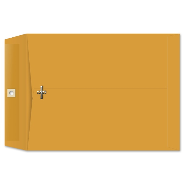 9-1/2 x 12-1/2 Clasp Envelopes 28lb Brown Kraft 100/BX