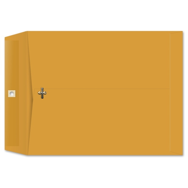 11 1/2 x 14 1/2 Clasp Envelopes 28lb Brown Kraft 100/BX