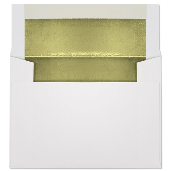 Ultra-White Foil-Lined Announcement Envelope (A-6) 7089