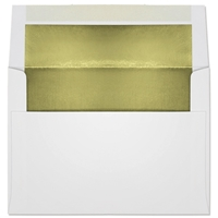 Ultra-White Foil-Lined Announcement Envelope (A-7) 7091