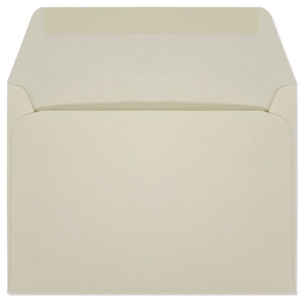 Creme Prism Machine Insertable Announcement Envelopes (A-6) 7201