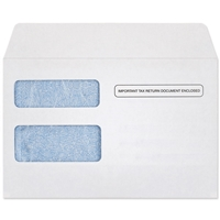 W-2 / 1099R and 1099 MISC Envelopes (5-3/4 x 8-7/8) 24lb White, Blue Tint 500/BX
