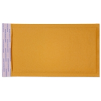 5 x 10 Bubble Mailers, Golden Kraft, Kwik-Tak, 250/BX (W7666)