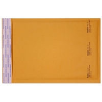 6 x 10 Bubble Mailers, Golden Kraft, Kwik-Tak, 250/BX (W7667)