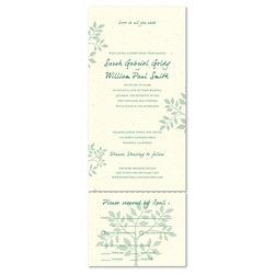 Recycled Paper Wedding Invitations ~ Shalom