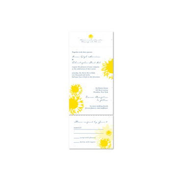 Yellow Sunflower Wedding Invitations on seeded paper by ForeverFiances Weddings (white plantable paper)