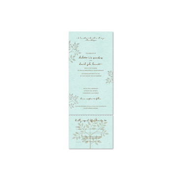 Tiffany Blue Wedding Invitations | Shalom (seeded paper, plantable into wildflowers)