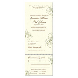 Recycled Paper Wedding Invitations ~ Fleur de Feux (Brides Favorite 2008)