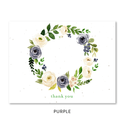 Florist Seeded Thank you notes | Flower Bliss on white seeded paper