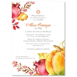Fall Themed Bat Mitzvah Invitations | Abundant Harvest