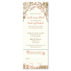 Send n Sealed Wedding invitations on 100% Recycled Paper - Southern Trees