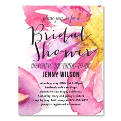 Watercolor Bridal Shower Invitations ~ Amazing Blooms
