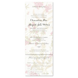 Antique Garden Wedding Invitations