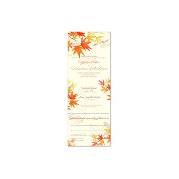 Watercolor Wedding Invitations on Plantable Paper ~ Autumn Leaves