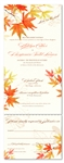 Fall Wedding Invitations with Autumn Leaves on 100% Recycled Paper