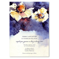 Floral Wedding Invitations | Deep Blooms