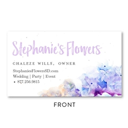 French Hydrangea Flowers Business Cards | Seeded paper