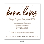 Seeded Paper Brown Business Cards | Kona Loves