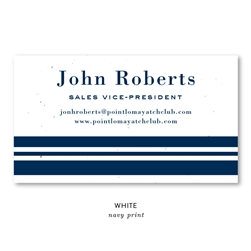 Seeded Paper Business Cards on plantable paper | Navy Stripes