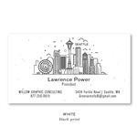 Seattle skyline Business Cards on seeded by Green Business Print