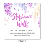 Wisteria Blooms Business Cards | Seeded paper