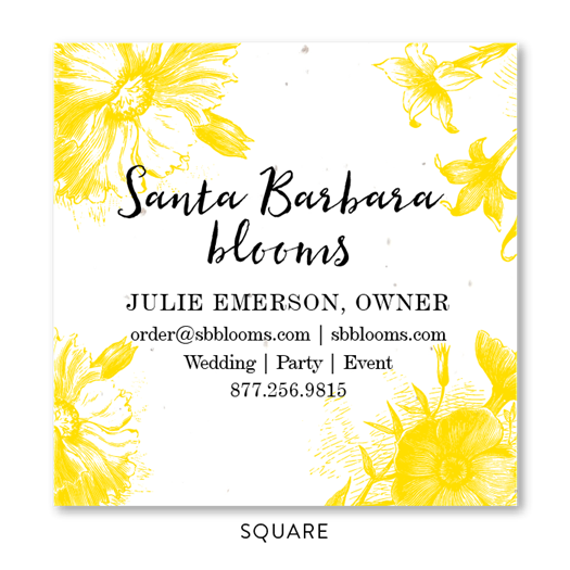 Florist Business Cards | Florist Blooms in Juicy Yellow