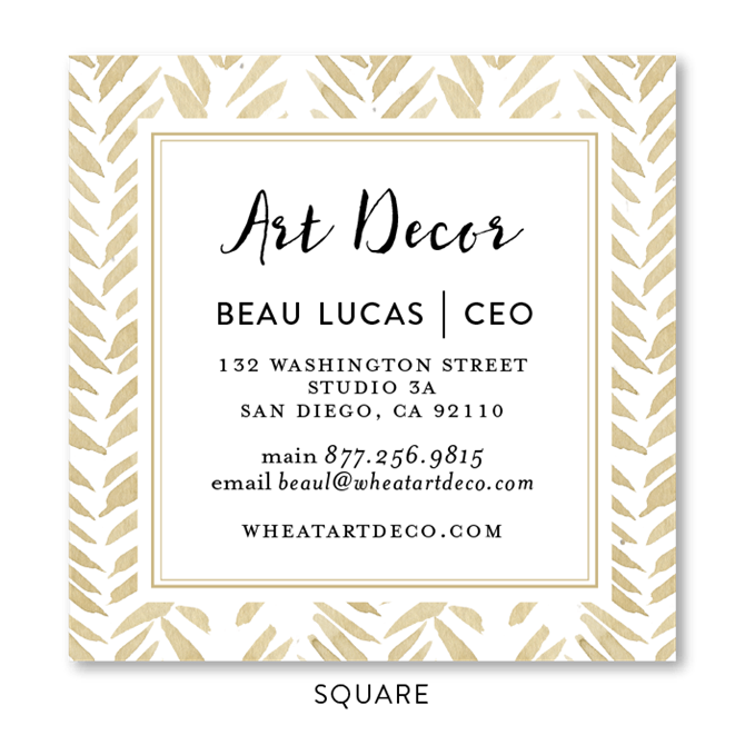 Seeded flower chevron business cards gold wheat by green business colourmoves