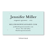Seeded paper Business Cards | Organic Class