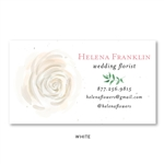 Rose Blush Flowers Business Cards | Seeded paper