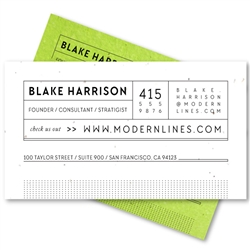 Modern Business Cards | Urban Lines
