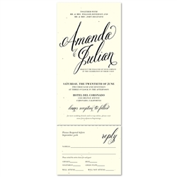 Typography Wedding Invitations | Beginnings (100% recycled seeded paper)