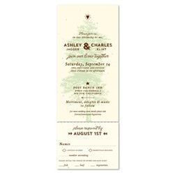 Tree Wedding Invitations - Big Sur Trails