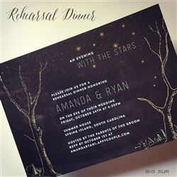 Chalk Rehearsal Dinner Invitations - Big Sur