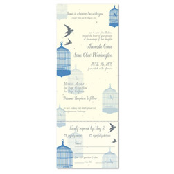 Spring Wedding Invitations ~ Bird's Escape (Seeded paper)