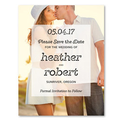 Photo Save the Date | Bold Refined (100% recycled paper)