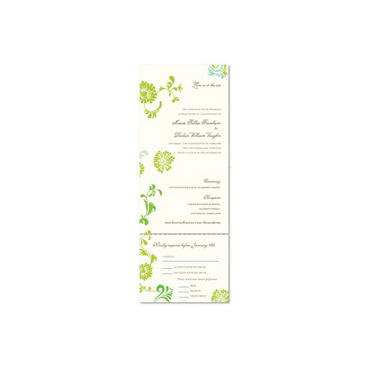 Recycled Paper Invitations ~ Botanical Playground (100% recycled paper)