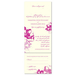 Eco-Friendly Wedding Invitations | hand-drawn poppies