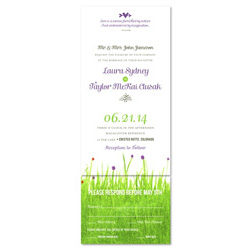 Colorado Wildflowers Wedding Invitations ~ Bright Meadow