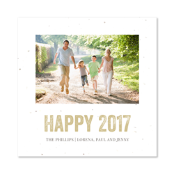 Holiday Photo Square Cards Seeded Paper | Bright Times (100% recycled paper)