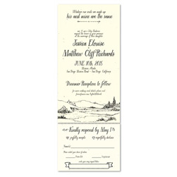 Natural Wedding Invitations - By the Little Brook