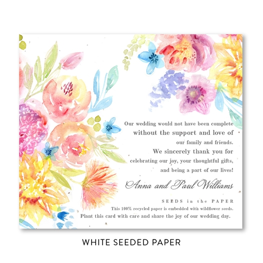 Californian Wildflowers Wedding Favors seeded paper