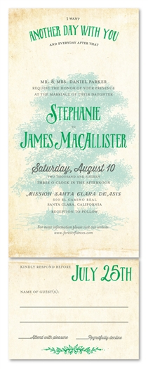 Vintage Tree Wedding Invitations | Childhood Tree (100% recycled paper)