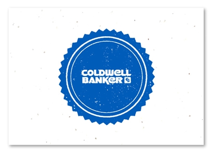 Coldwell Banker Real Estate Cards on seeded paper by Green Business Print