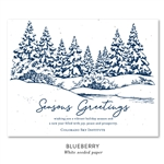 Snow Business Holiday Cards on seeded paper | Cozy Snow by Green Business Print