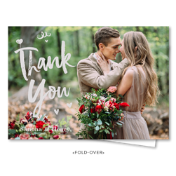 Premium Photo Thank You Notes foldover | Cuties heart (100% recycled paper)